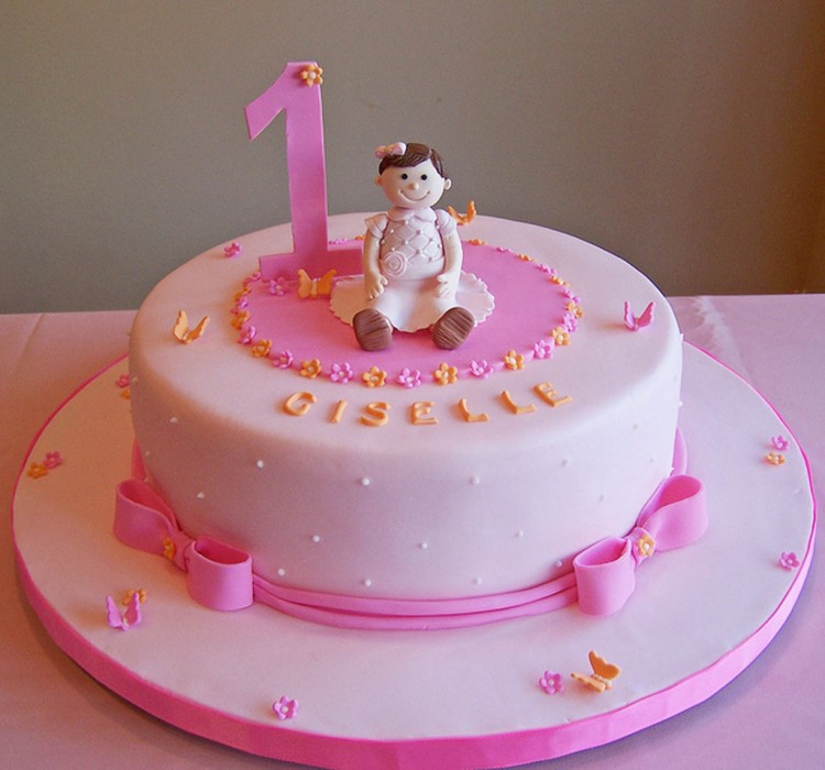 1st Birthday Cake For Girl Birthday Cake - Cake Ideas by ...