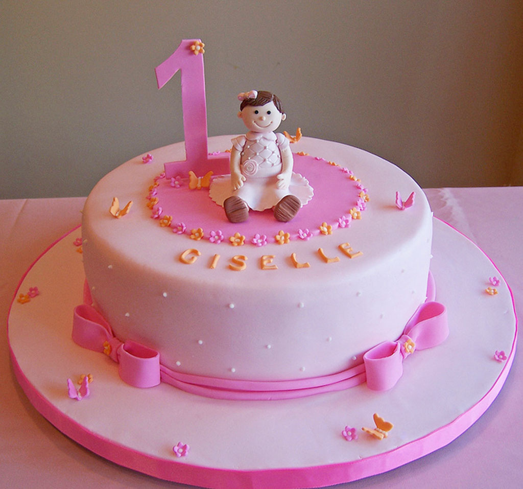 Cake Decorating Ideas Birthday Girl : 1st Birthday Cake For Girl Birthday Cake - Cake Ideas by ...