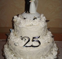 1024x1365px 25th Wedding Anniversary Cake Ideas Picture in Wedding Cake