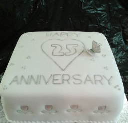 1024x1365px 25th Wedding Anniversary Cake Idea To Copy Picture in Wedding Cake