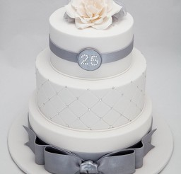 1024x1255px 25th Wedding Anniversary Decoration Picture in Wedding Cake