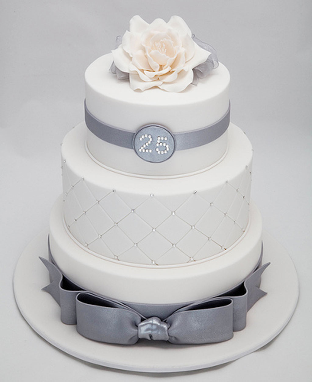 25th Wedding Anniversary Decoration Wedding Cake - Cake Ideas by ...