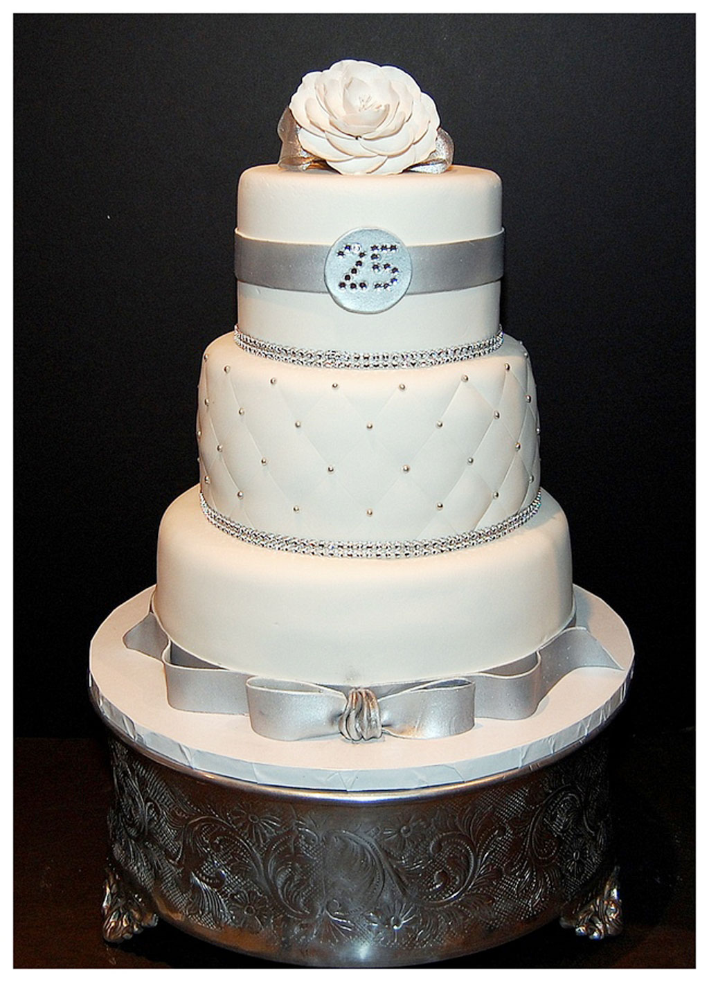 25th wedding anniversary cake images wedding cake cake for Anniversary cake decoration