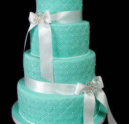 1024x1365px 4 Tier Blue Wedding Cake Picture in Wedding Cake