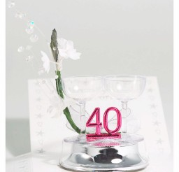 1024x1024px 40th Ruby Wedding Anniversary Cake Topper Picture in Wedding Cake