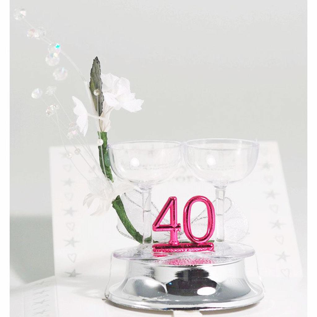 Th ruby wedding anniversary cake topper