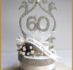 1024x1365px 60th Wedding Anniversary Cake Topper Picture in Wedding Cake