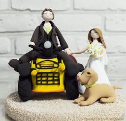 1024x1024px ATV Bike Custom Wedding Cake Topper Picture in Wedding Cake