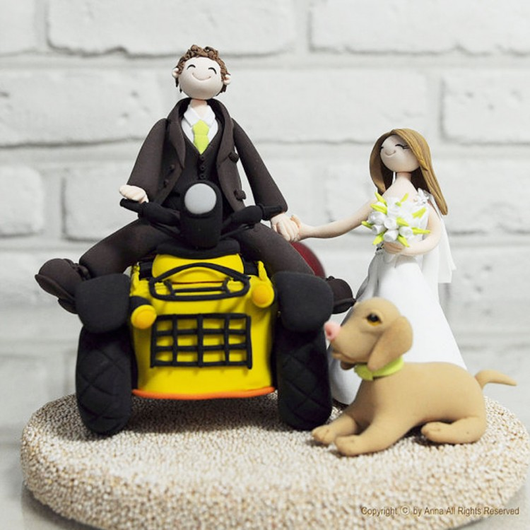 ATV Bike Custom Wedding Cake Topper Picture in Wedding Cake
