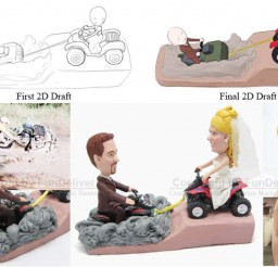 1024x636px ATV Wedding Cake Toppers Picture in Wedding Cake