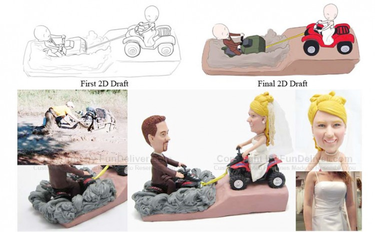 ATV Wedding Cake Toppers Picture in Wedding Cake