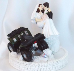 1024x1142px ATV Romantic Wedding Cake Topper Picture in Wedding Cake