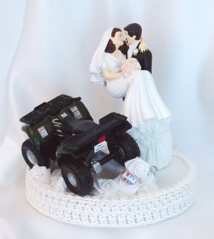 ATV Romantic Wedding Cake Topper Picture in Wedding Cake