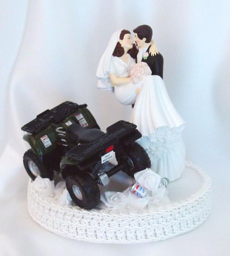 ATV Romantic Wedding Cake Topper Picture in Wedding Cake