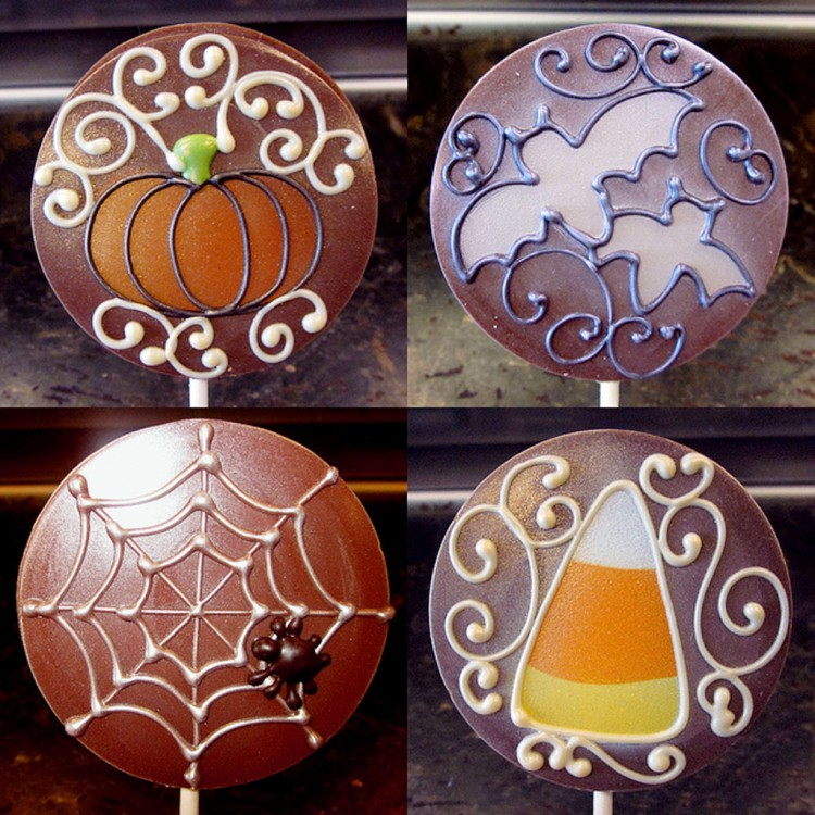 Anna Shea Halloween Chocolates Picture in Chocolate Cake