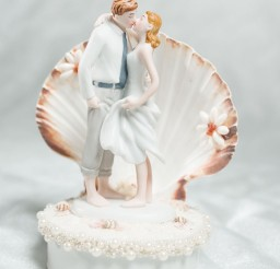1024x1396px Beach Get Away Shell Wedding Cake Topper Picture in Wedding Cake