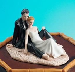 1024x1229px Beach Theme Wedding Cake Toppers Picture in Wedding Cake