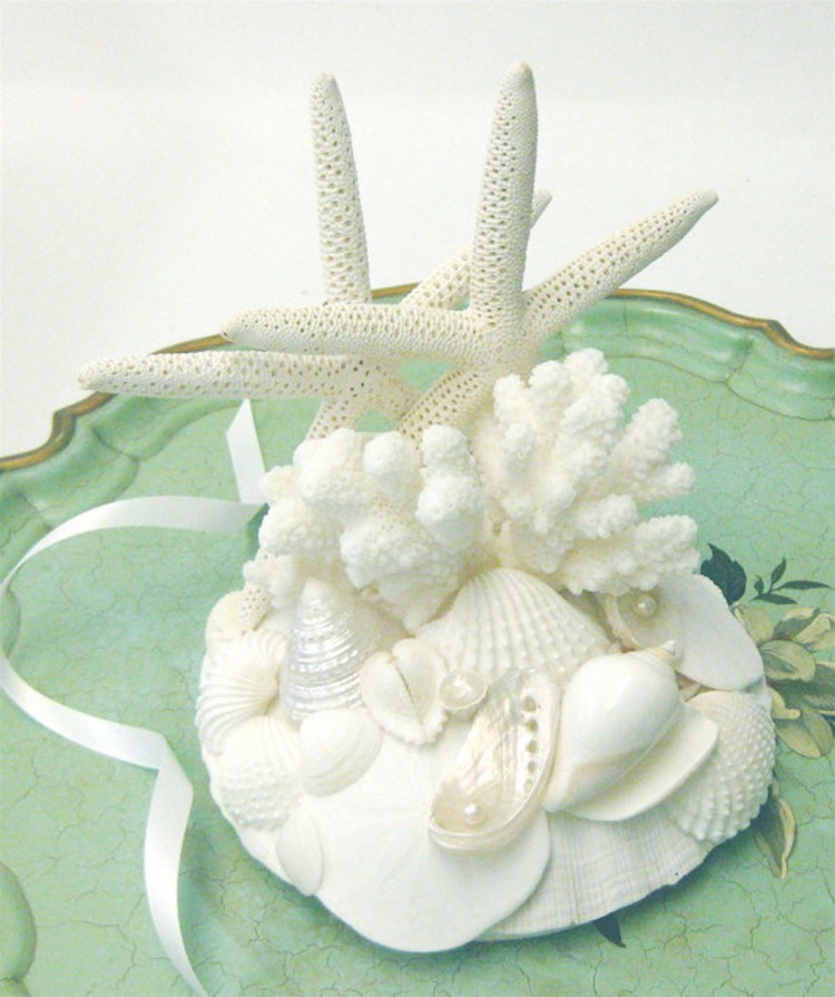 Beach Wedding Cake Topper With Starfish Picture in Wedding Cake