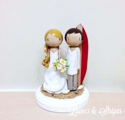 1024x1024px Beach Wedding Cake Topper With Surf Board Picture in Wedding Cake