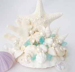 1024x1051px Beach Wedding Starfish Cake Topper Picture in Wedding Cake
