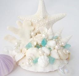1024x1051px Beach Wedding Starfish Cake Topper Picture in Wedding Cake