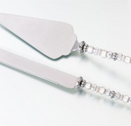 1024x666px Beaded Wedding Cake Knife And Server Set Picture in Wedding Cake