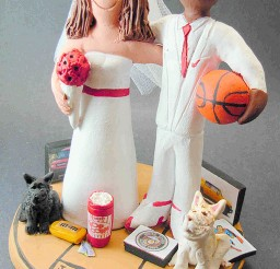 1024x1428px Biracial Wedding Cake Topper Picture in Wedding Cake