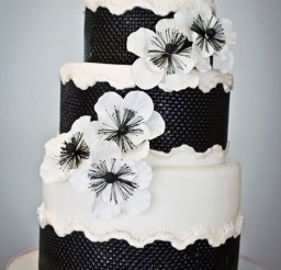 1024x1540px Black And White Wedding Cake Design Picture in Wedding Cake