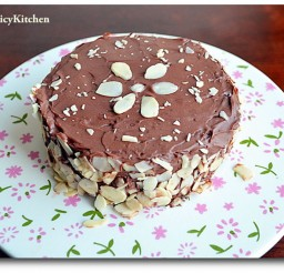 1024x702px Chocolate Almond Cake Picture in Chocolate Cake