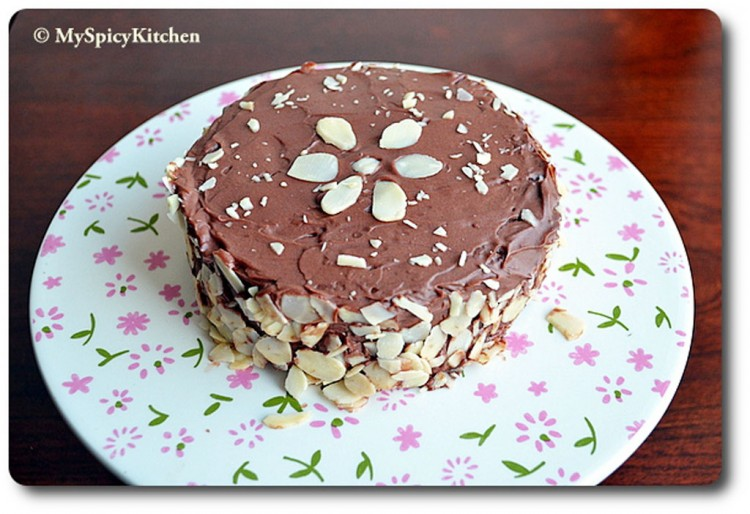 Chocolate Almond Cake Picture in Chocolate Cake