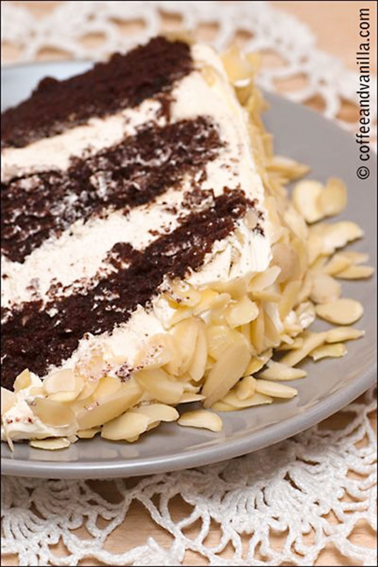 Chocolate And Coffee Triple Layer Cake Recipe Picture in Chocolate Cake