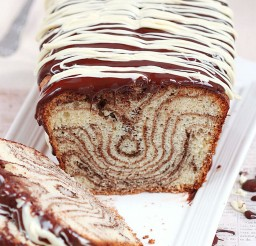 1024x1536px Chocolate And Vanilla Marble Loaf Cake Picture in Chocolate Cake