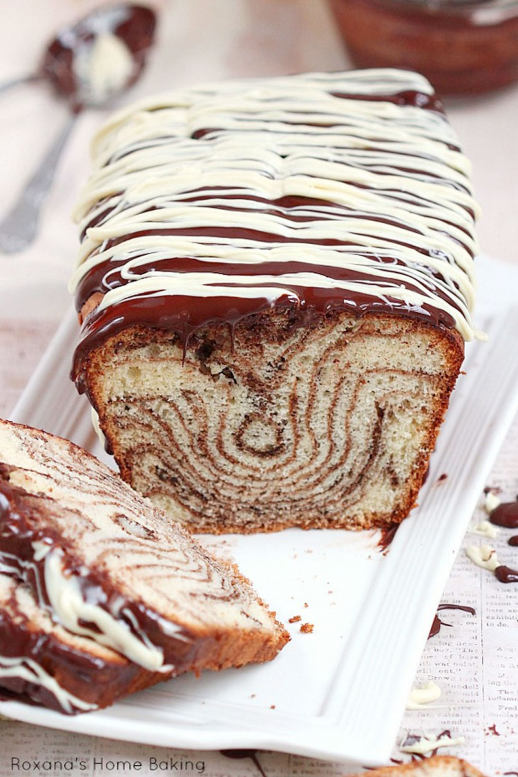 Chocolate And Vanilla Marble Loaf Cake Picture in Chocolate Cake