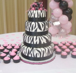 1024x1365px Zebra Print Birthday Cakes Ideas Picture in Birthday Cake