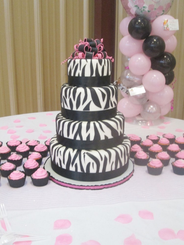 Zebra Print Birthday Cakes Ideas Picture in Birthday Cake