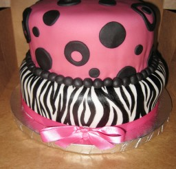 1024x1365px Zebra Print And Dots Birthday Cakes Picture in Birthday Cake