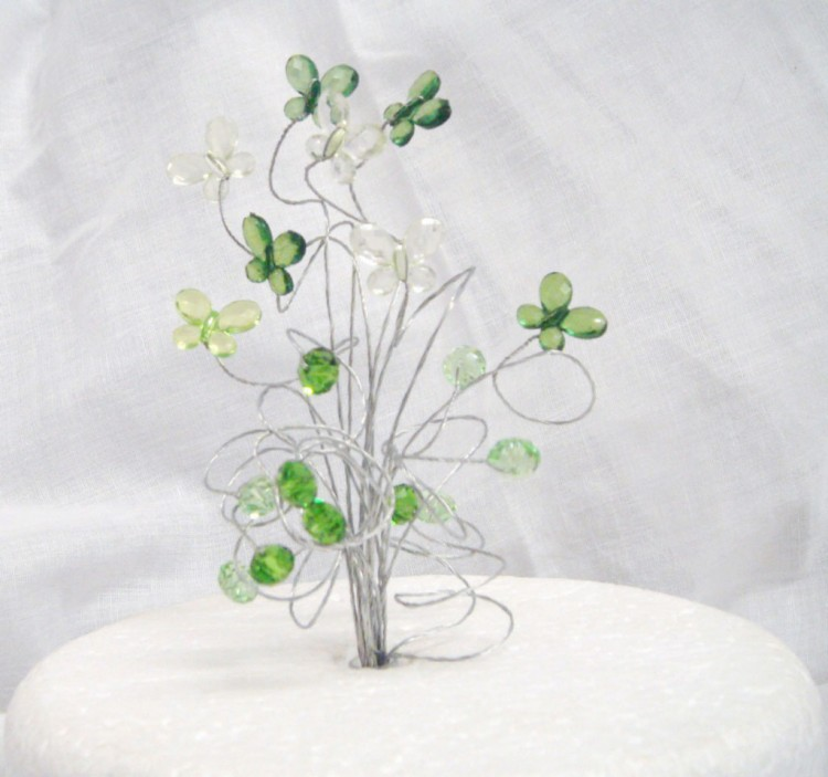Acrylic Butterfly Wedding Cake Topper Picture in Wedding Cake