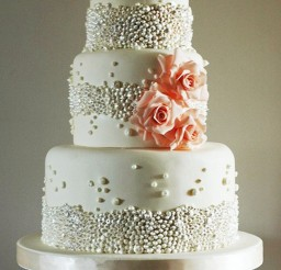 1024x1536px Beautiful Beaded Wedding Cake Picture in Wedding Cake