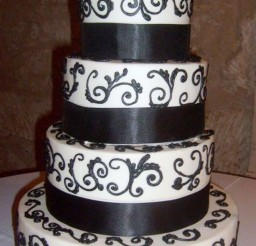 1024x1736px Black And White Wedding Cake Picture in Wedding Cake