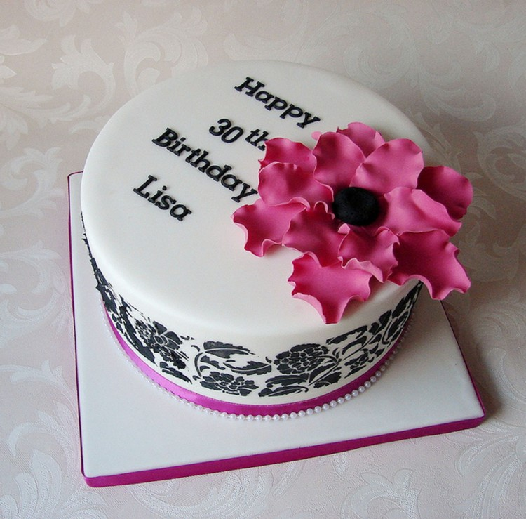 30th Birthday Cakes Ideas For Women Picture in Birthday Cake