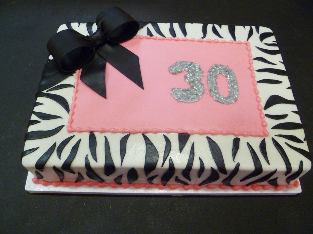 30th Birthday Zebra Print Cake Birthday Cake Cake Ideas By