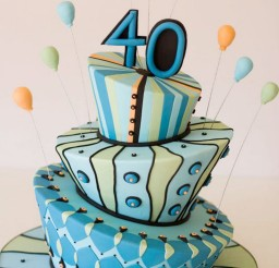 1024x1537px 40th Birthday Cake Decorating Ideas Picture in Birthday Cake