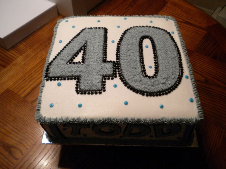 40th Birthday Cake Ideas For Men Picture in Birthday Cake