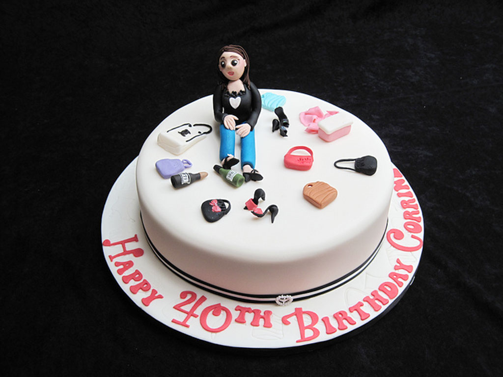 Birthday Cake Designs For A Lady : 40th Birthday Cakes For Women Birthday Cake - Cake Ideas ...