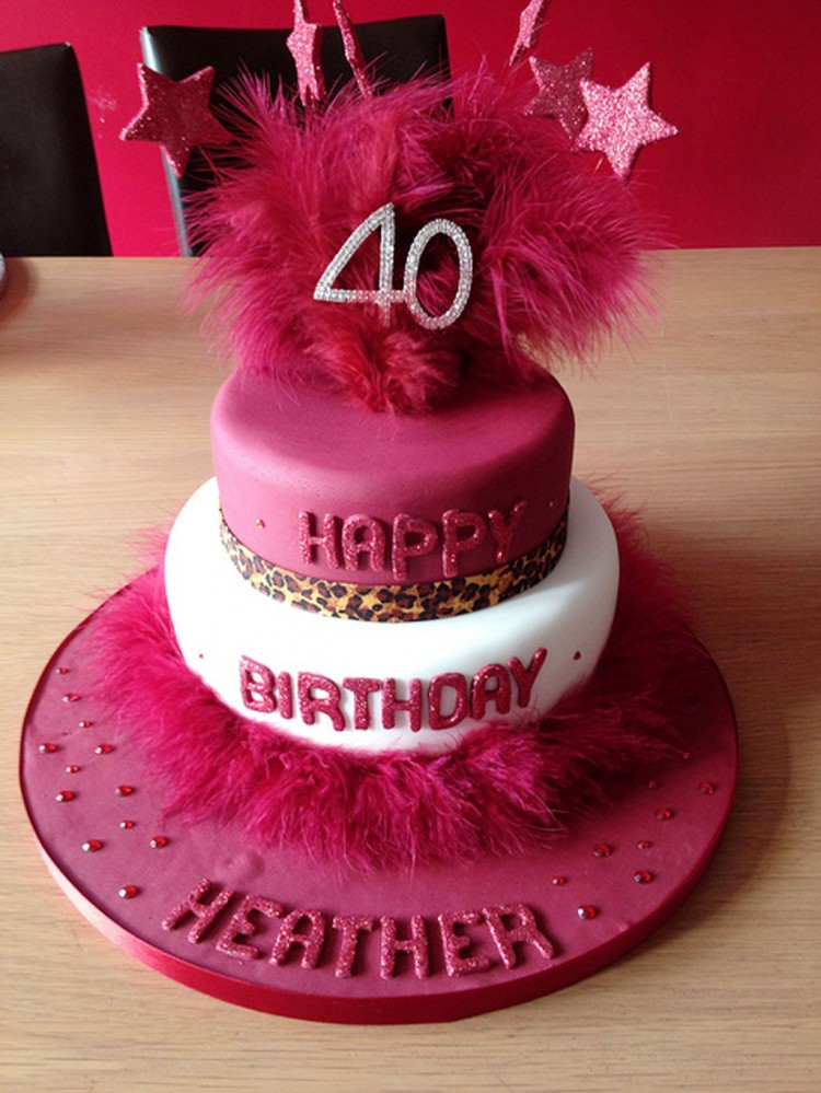 40th Birthday Decorations Birthday Cake Cake Ideas By