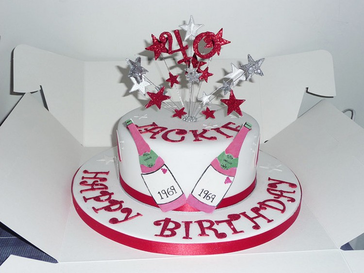 Cake Decorating For 40th Birthday : 40th Women Birthday Cakes Birthday Cake - Cake Ideas by ...