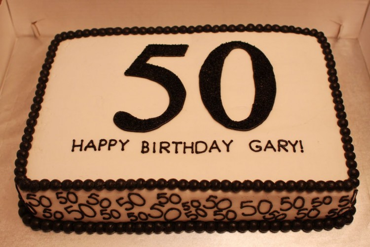 50th Birthday Sheet Cake Picture in Birthday Cake