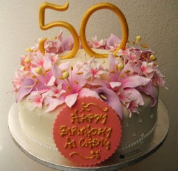 1024x1024px 50th Birthday Cakes For Female Picture in Birthday Cake