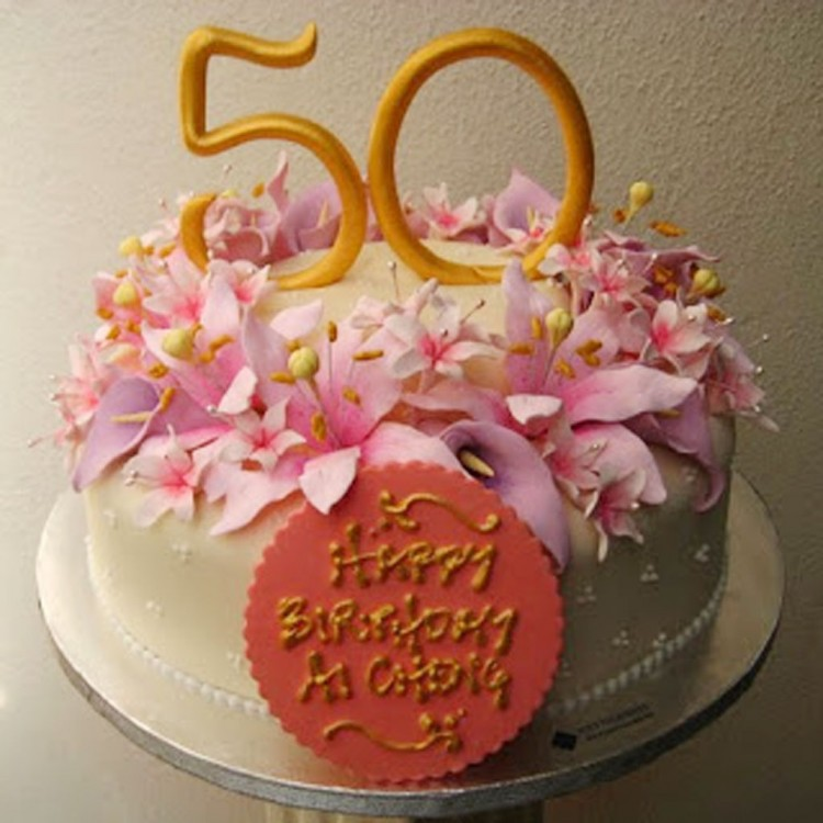 50th Birthday Cakes For Female Picture in Birthday Cake