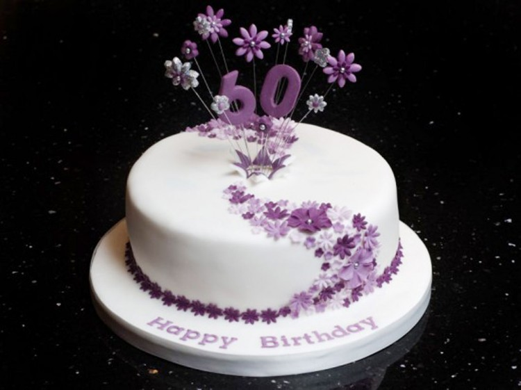 60th Birthday Cake Decorating Ideas Picture in Birthday Cake